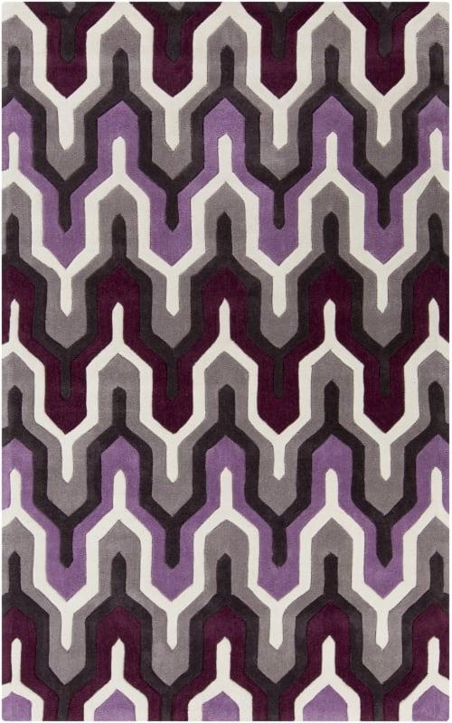 Surya COS-9178 Cosmopolitan Hand Tufted Polyester Rug Purple 9 x 13