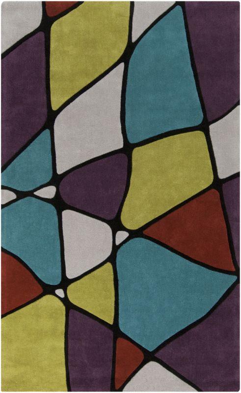 Surya COS-9185 Cosmopolitan Hand Tufted Polyester Rug Green 5 x 8 Home