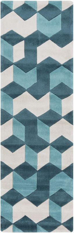 Surya COS-9189 Cosmopolitan Hand Tufted Polyester Rug Blue 2 1/2 x 8