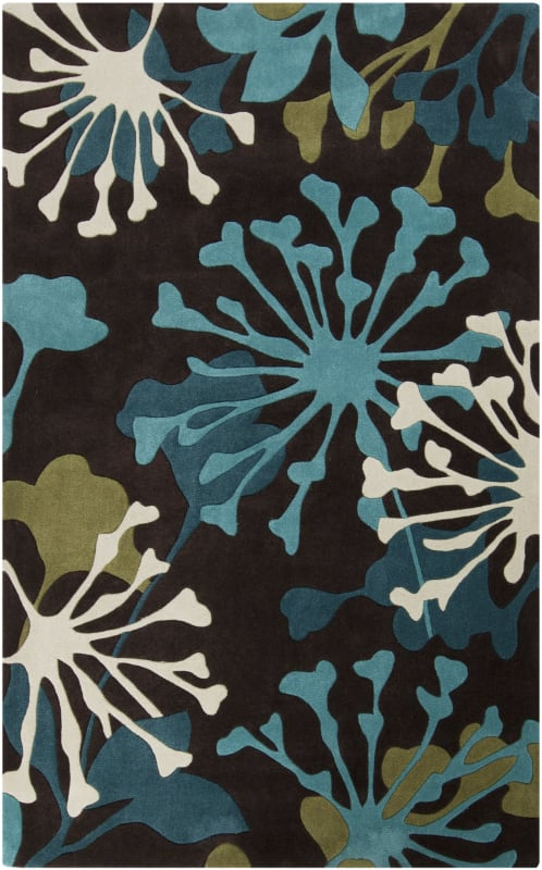 Surya COS-9198 Cosmopolitan Hand Tufted Polyester Rug Blue 5 x 8 Home