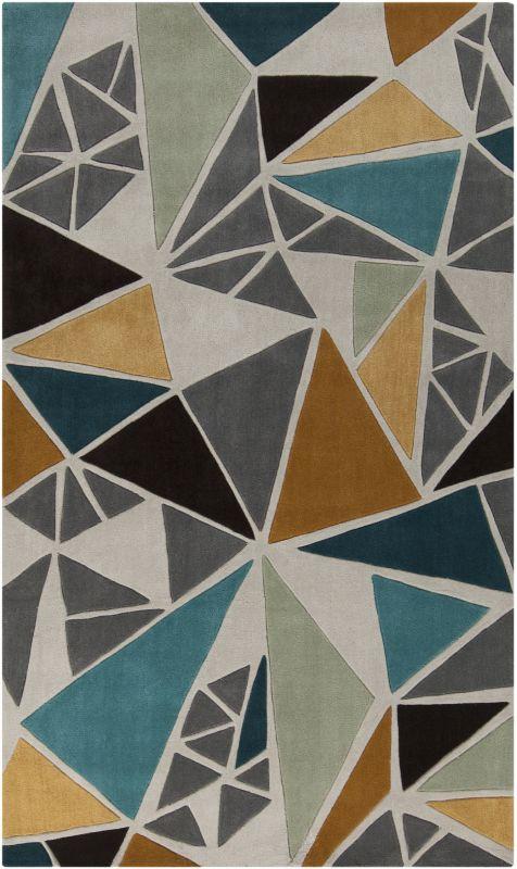 Surya COS-9199 Cosmopolitan Hand Tufted Polyester Rug Gray 9 x 13 Home