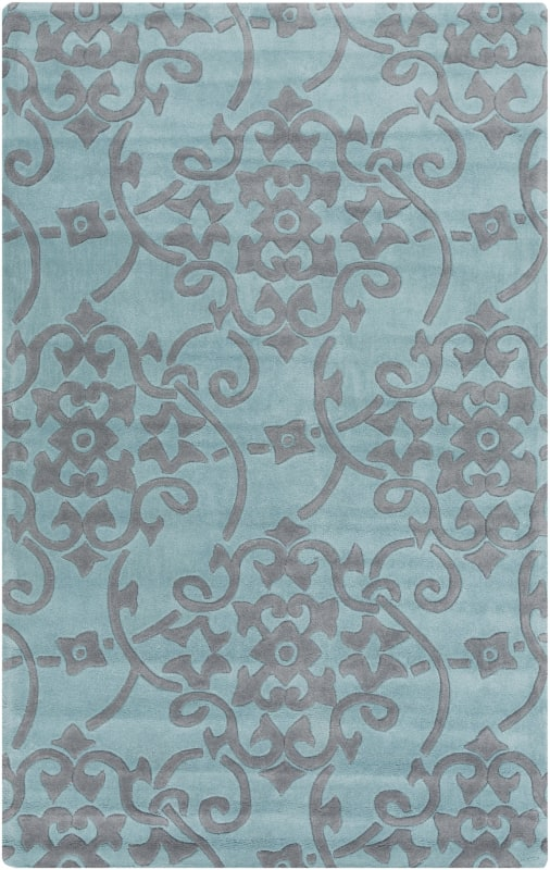 Surya COS-9202 Cosmopolitan Hand Tufted Polyester Rug Blue 3 1/2 x 5
