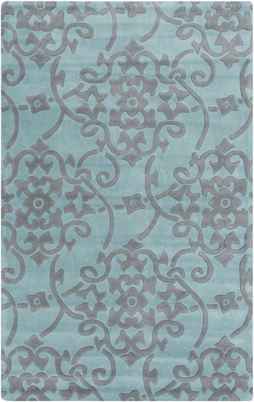 Surya COS-9202 Cosmopolitan Hand Tufted Polyester Rug Blue 5 x 8 Home