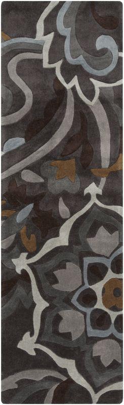 Surya COS-9210 Cosmopolitan Hand Tufted Polyester Rug Gray 2 1/2 x 8