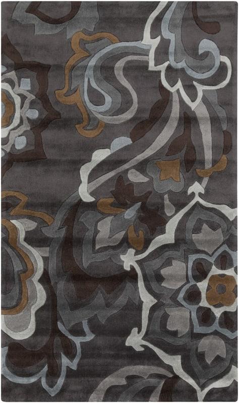 Surya COS-9210 Cosmopolitan Hand Tufted Polyester Rug Gray 3 1/2 x 5