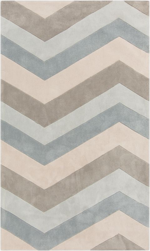 Surya COS-9216 Cosmopolitan Hand Tufted Polyester Rug Blue 5 x 8 Home