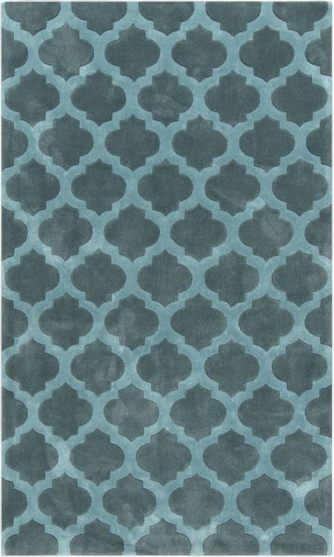 Surya COS-9225 Cosmopolitan Hand Tufted Polyester Rug Blue 5 x 8 Home