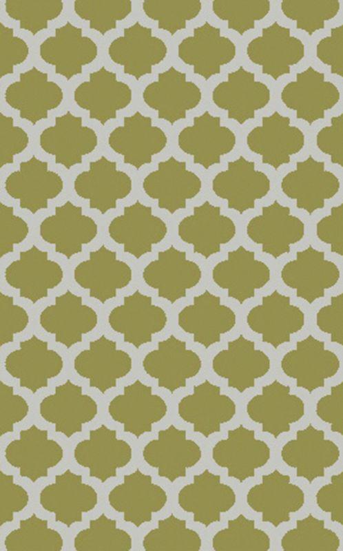 Surya COS-9240 Cosmopolitan Hand Tufted Polyester Rug Green 5 x 8 Home