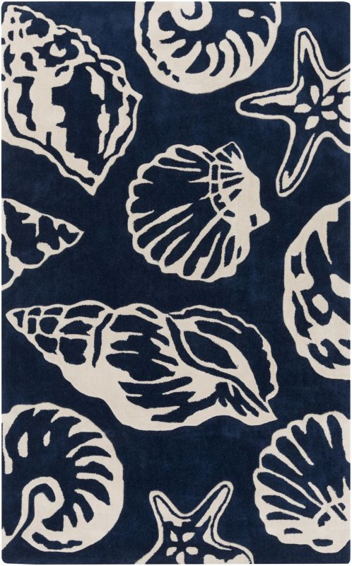 Surya COS-9256 Cosmopolitan Hand Tufted Polyester Rug Blue 8 x 11 Home