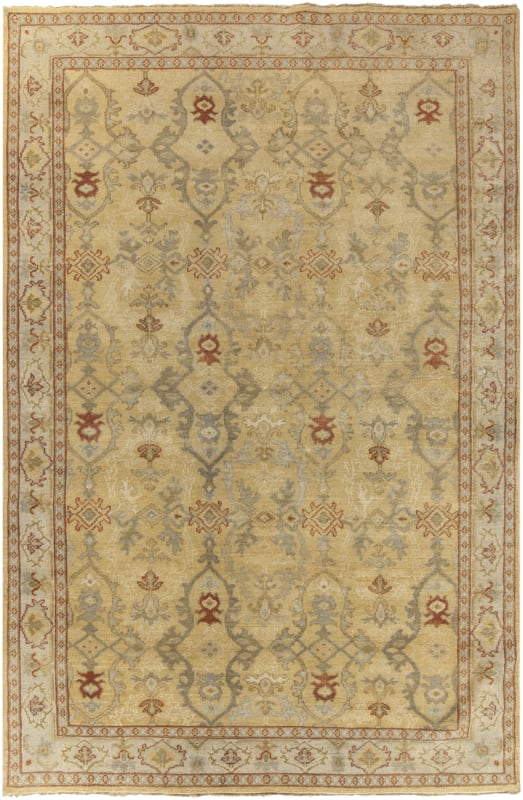 Surya CSL-6000 Castle Hand Knotted New Zealand Wool Rug Rectangle 6 x
