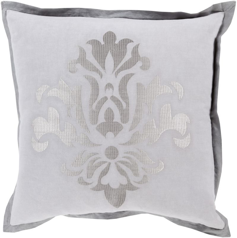 Surya CT-001 Square Indoor Decorative Pillow with Down or Polyester