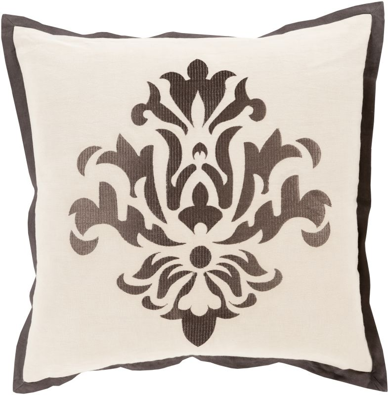 Surya CT-003 Square Indoor Decorative Pillow with Down or Polyester