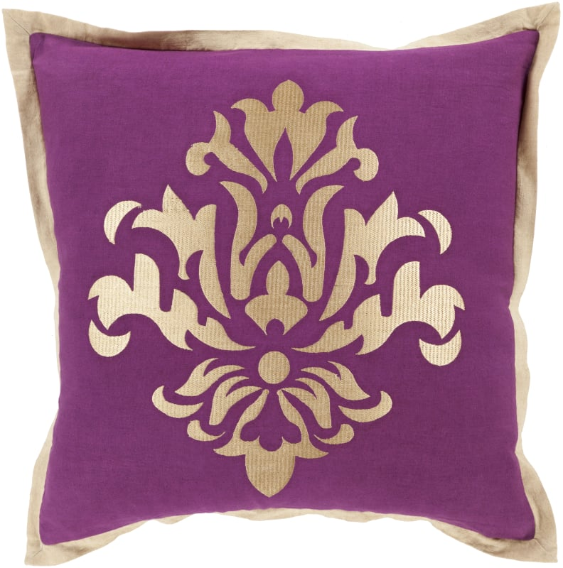 Surya CT-004 Square Indoor Decorative Pillow with Down or Polyester
