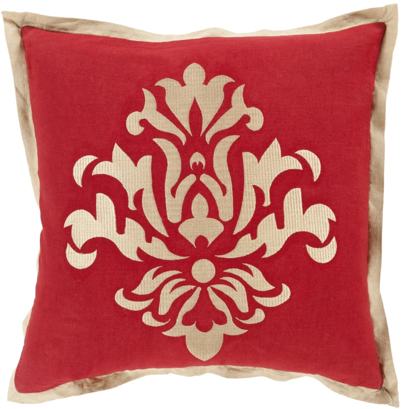 Surya CT-005 Square Indoor Decorative Pillow with Down or Polyester