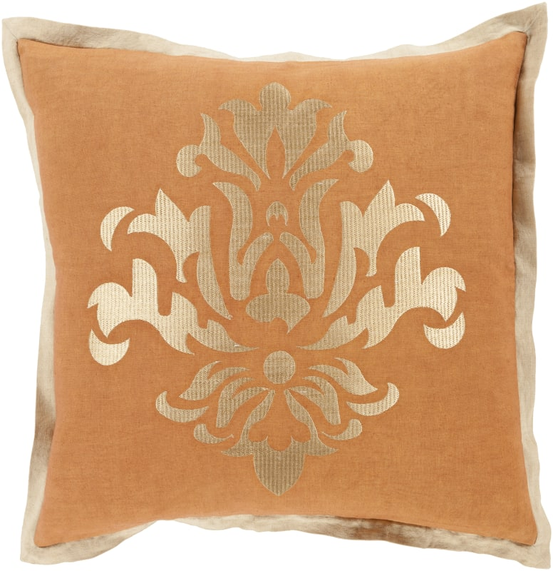 Surya CT-006 Square Indoor Decorative Pillow with Down or Polyester
