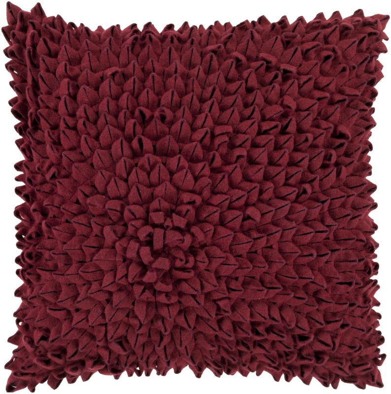 Surya DA-004 Square Indoor Decorative Pillow with Down or Polyester