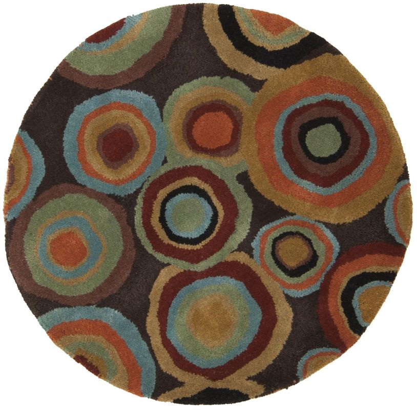 Surya DAZ-6511 Dazzle Hand Tufted New Zealand Wool Rug Round 3 x 3