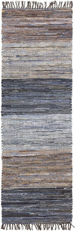 Surya DNM-1000 Denim Hand Loomed Cotton Rug Runner 2 1/2 x 8 Home