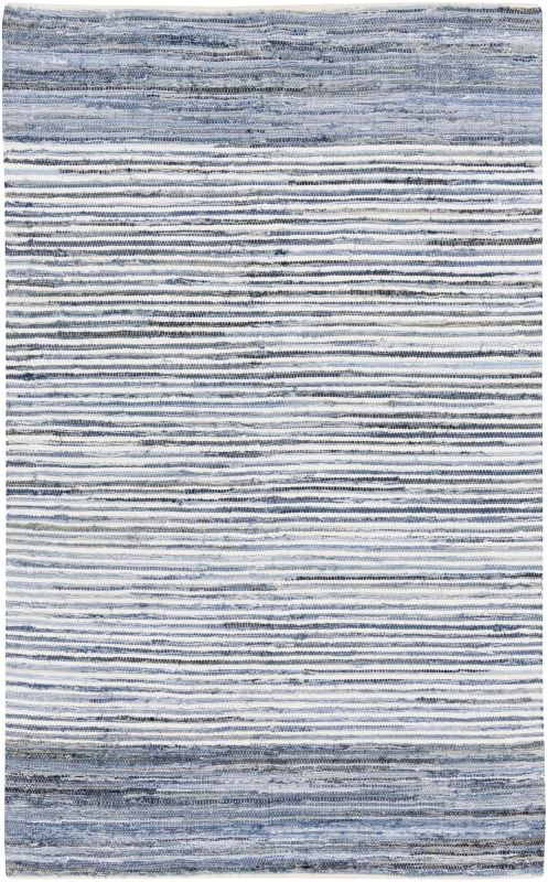 Surya DNM-1001 Denim Hand Loomed Cotton Rug Rectangle 5 x 8 Home Decor