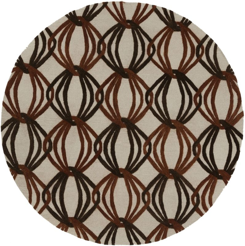 Surya DST-1176 Dream Hand Tufted New Zealand Wool Rug Round 8 x 8 Home