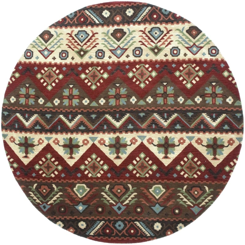 Surya DST-381 Dream Hand Tufted New Zealand Wool Rug Round 8 x 8 Home