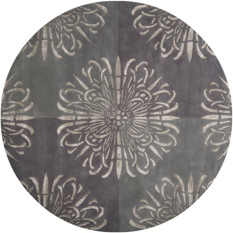 Surya ESS-7629 Essence Hand Tufted New Zealand Wool Rug Round 8 x 8