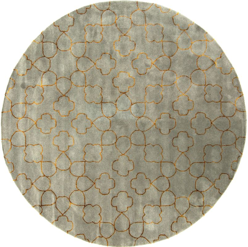 Surya ESS-7667 Essence Hand Tufted New Zealand Wool Rug Round 8 x 8