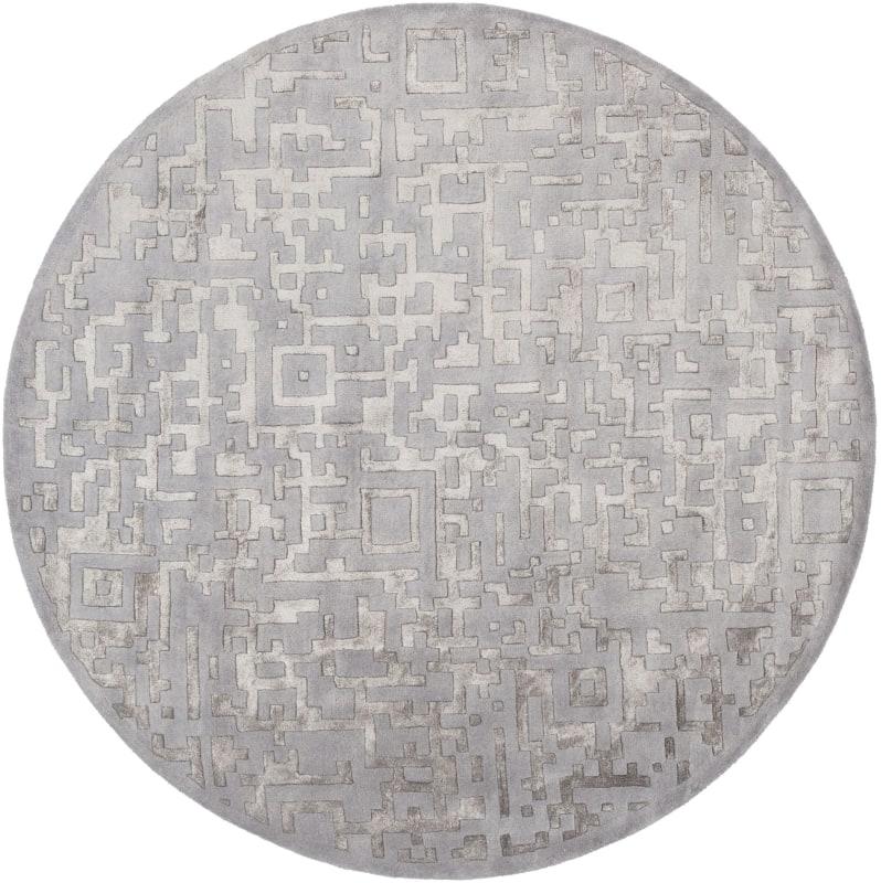 Surya ESS-7690 Essence Hand Tufted New Zealand Wool Rug Round 8 x 8