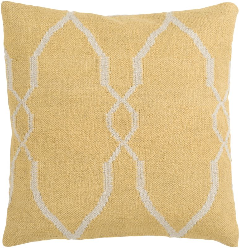 Surya FA-017 Square Indoor Decorative Pillow with Down or Polyester