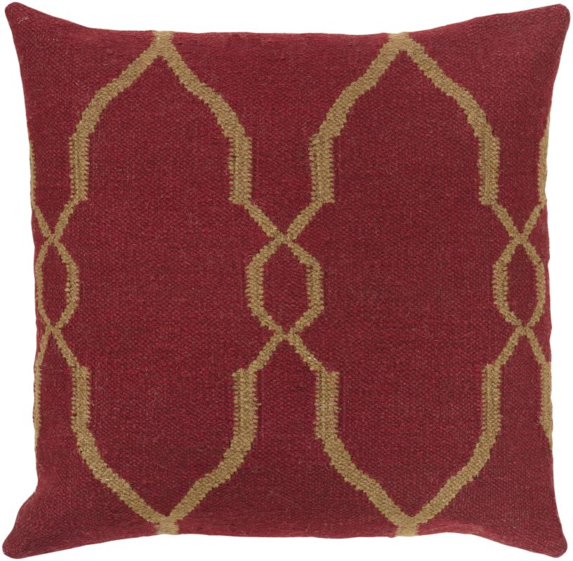 Surya FA-019 Square Indoor Decorative Pillow with Down or Polyester