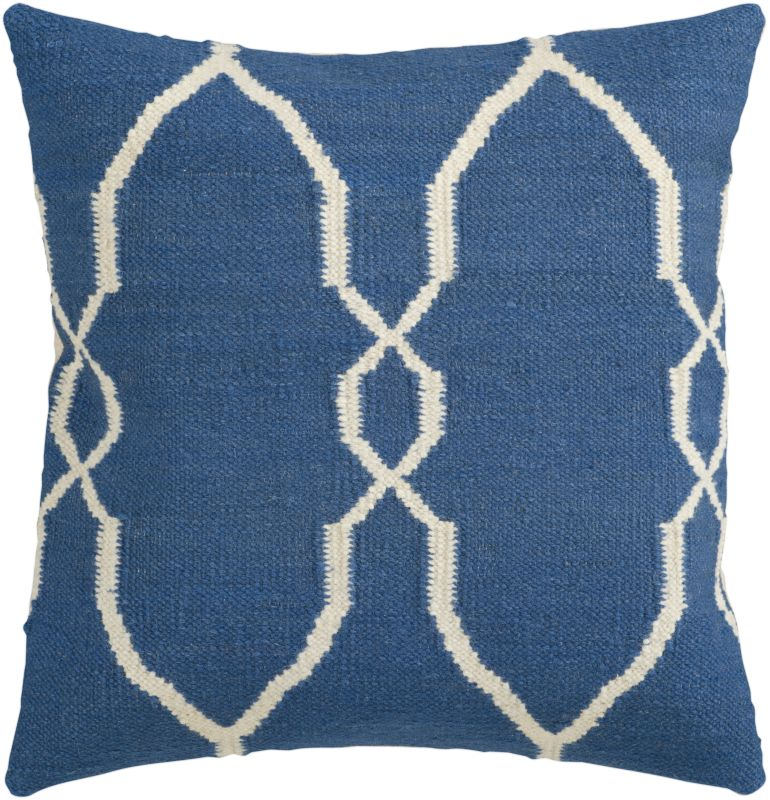 Surya FA-021 Square Indoor Decorative Pillow with Down or Polyester