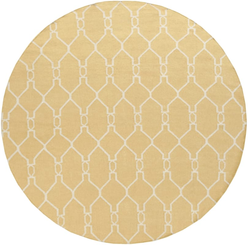 Surya FAL-1001 Fallon Hand Woven Wool Rug Round 8 x 8 Home Decor Rugs