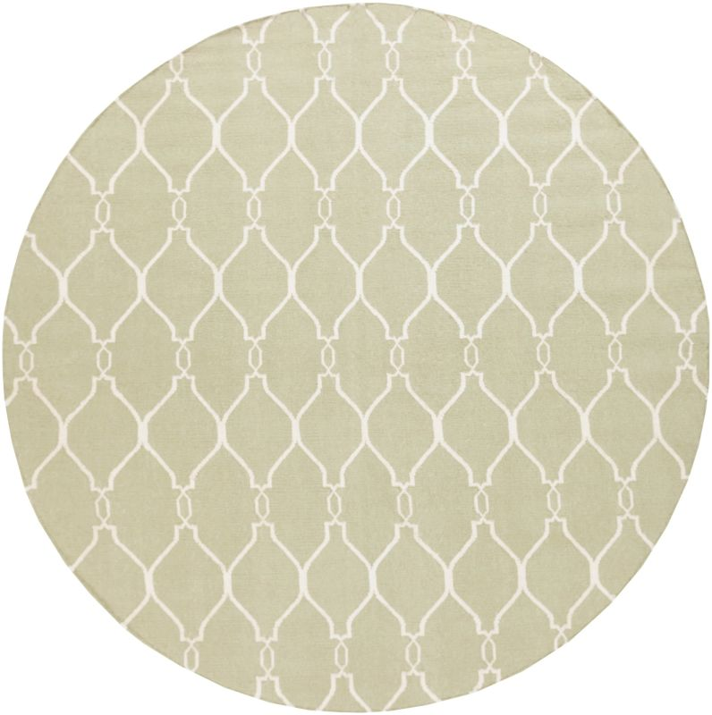 Surya FAL-1004 Fallon Hand Woven Wool Rug Round 8 x 8 Home Decor Rugs