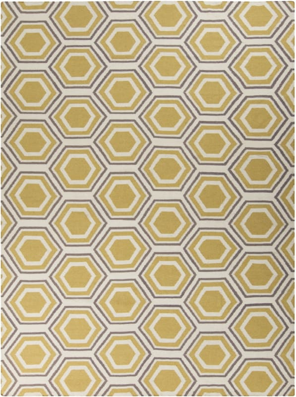 Surya FAL-1036 Fallon Hand Woven Wool Rug Rectangle 8 x 11 Home Decor