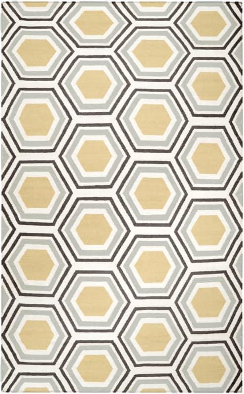 Surya FAL-1037 Fallon Hand Woven Wool Rug Rectangle 3 1/2 x 5 1/2 Home