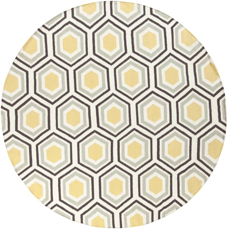 Surya FAL-1037 Fallon Hand Woven Wool Rug Round 8 x 8 Home Decor Rugs
