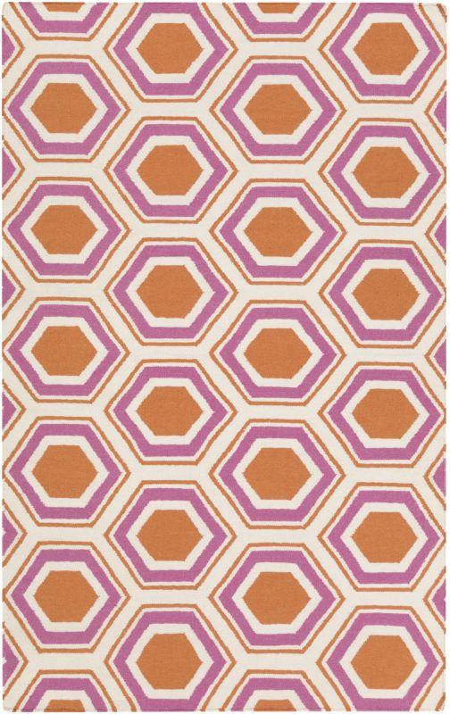 Surya FAL-1100 Fallon Hand Woven Wool Rug Rectangle 3 1/2 x 5 1/2 Home