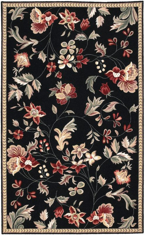 Surya FLO-8907 Flor Hand Hooked Wool Rug Rectangle 2 1/2 x 4 Home