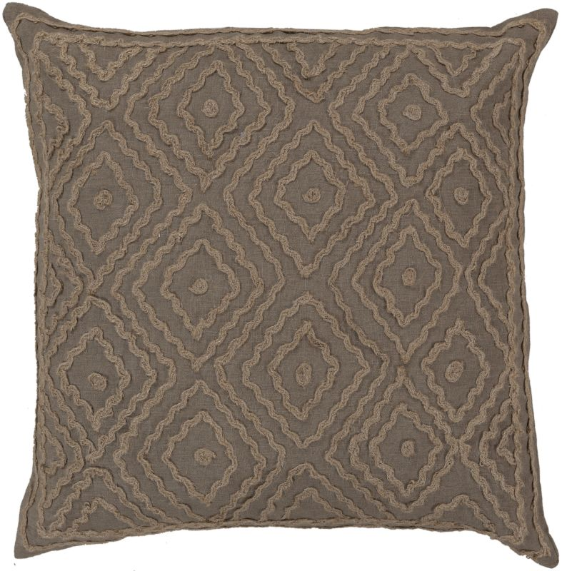 Surya LD-026 Square Indoor Decorative Pillow with Down or Polyester
