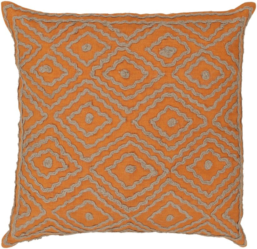 Surya LD-029 Square Indoor Decorative Pillow with Down or Polyester
