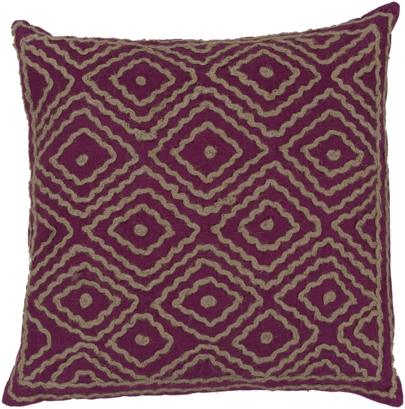 Surya LD-032 Square Indoor Decorative Pillow with Down or Polyester