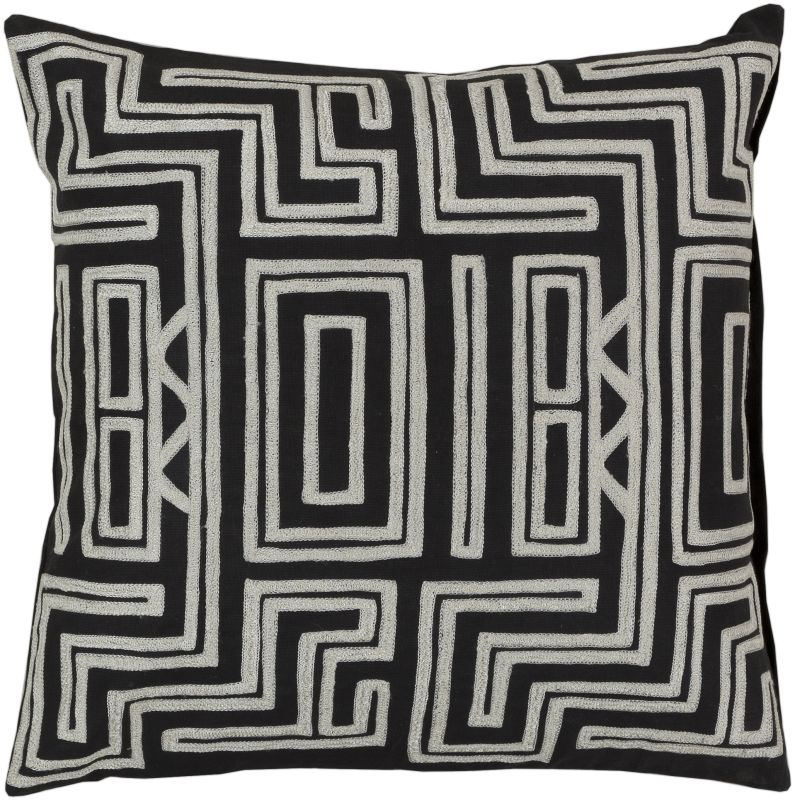Surya LG-560 Square Indoor Decorative Pillow with Down or Polyester