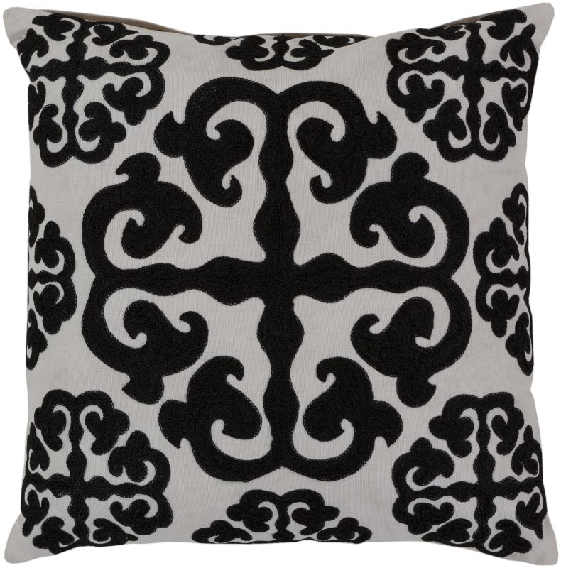 Surya LG-576 Square Indoor Decorative Pillow with Down or Polyester