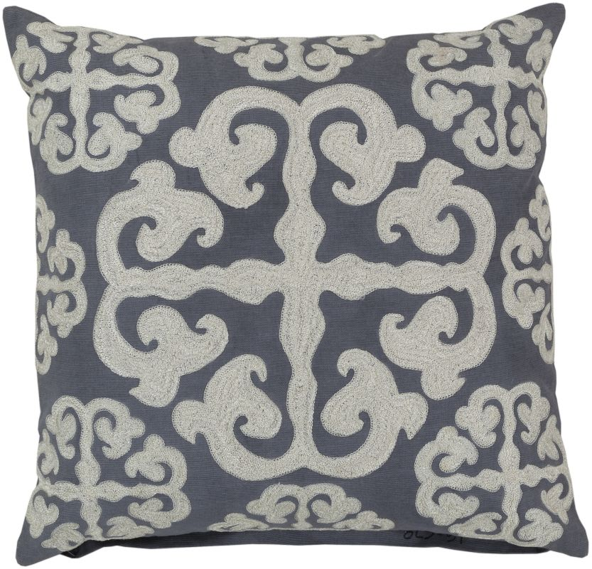 Surya LG-578 Square Indoor Decorative Pillow with Down or Polyester