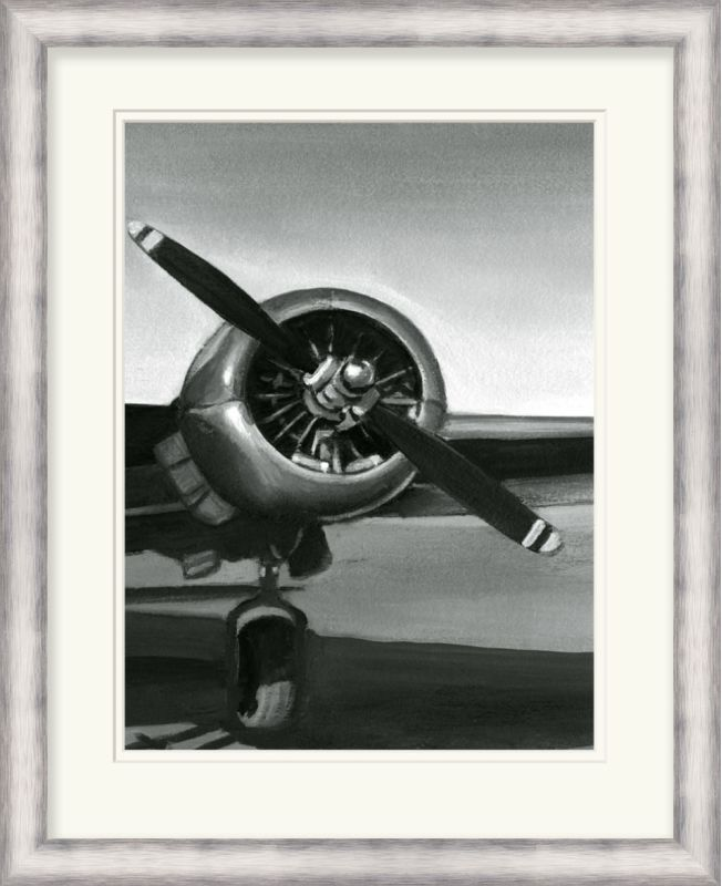 "Surya LJ4070 27"" x 34"" Vintage Flight III Giclee Print Black Home"