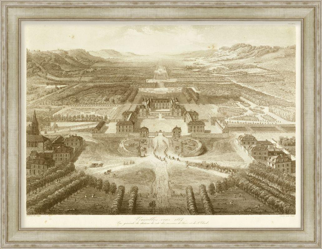 "Surya LJ4087 46"" x 36"" Bird´s Eye View of Versailles Giclee Print"
