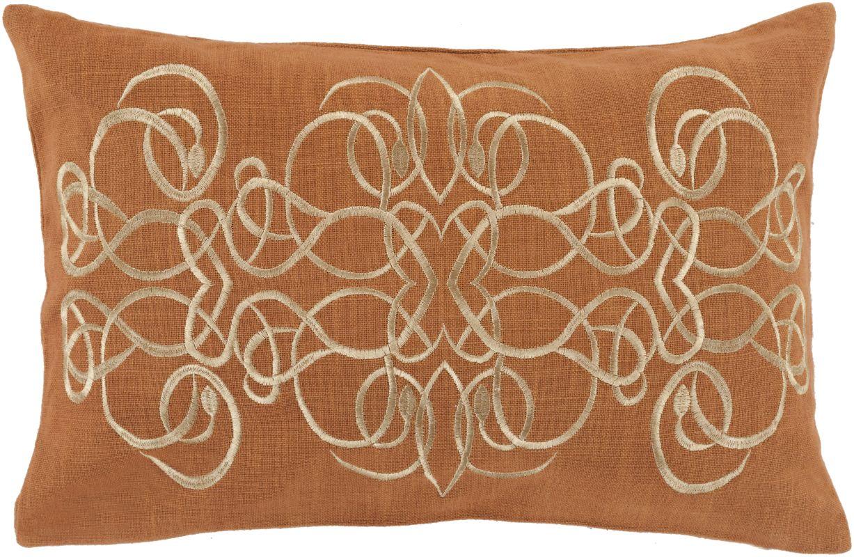 Surya LU-001 Lumbar Indoor Decorative Pillow with Down or Polyester