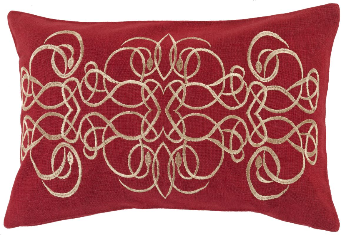Surya LU-002 Lumbar Indoor Decorative Pillow with Down or Polyester