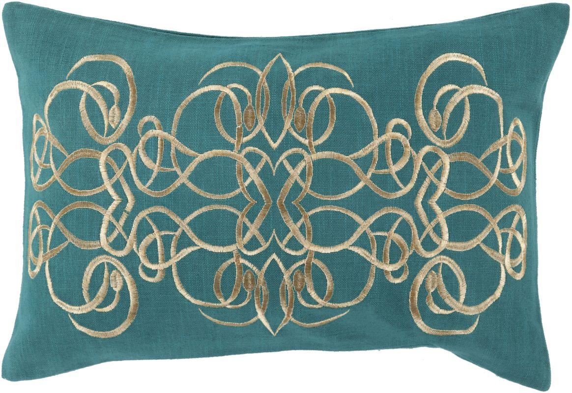 Surya LU-003 Lumbar Indoor Decorative Pillow with Down or Polyester