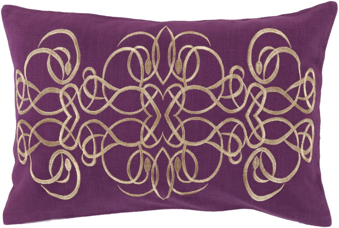 Surya LU-004 Lumbar Indoor Decorative Pillow with Down or Polyester